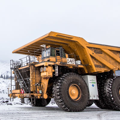Picture of LNG powered haul truck.