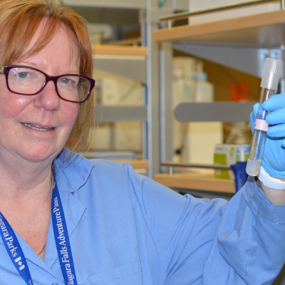 Deborah Roberts has identified microbes responsible for acid-rock drainage at mine sites.