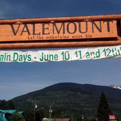 Picture of Valemount sign.