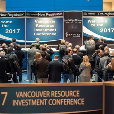 The 2018 Vancouver Resource Investment Conference takes place at the Vancouver Convention Centre West on January 21-22, 2018.