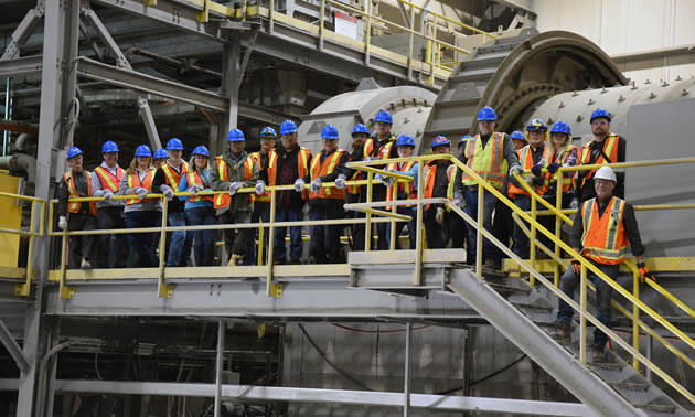Tour of the process plant at the De Beers Victor Mine.
