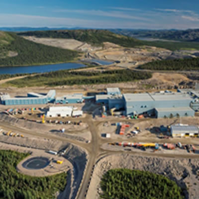 Aerial view of the Voisey's Bay Mine.