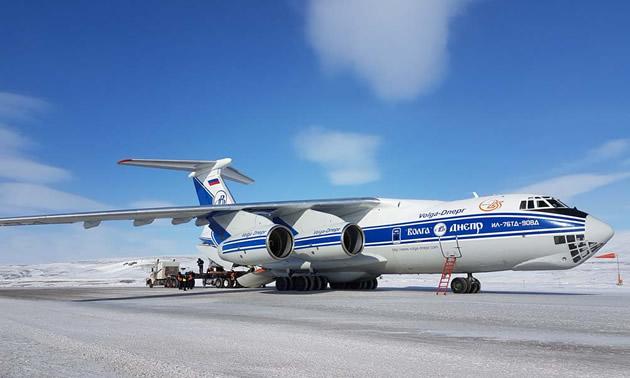 Volga-Dnepr airplane.