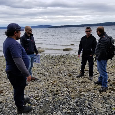 WCMRC crews and representatives from five First Nations completed a shoreline clean-up assessment course.