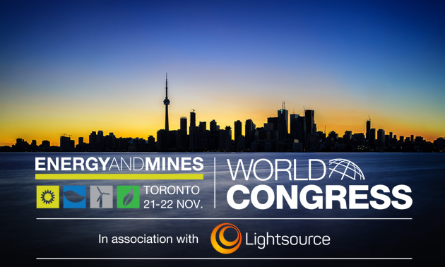 Graphic of the Energy and Mines World Congress.