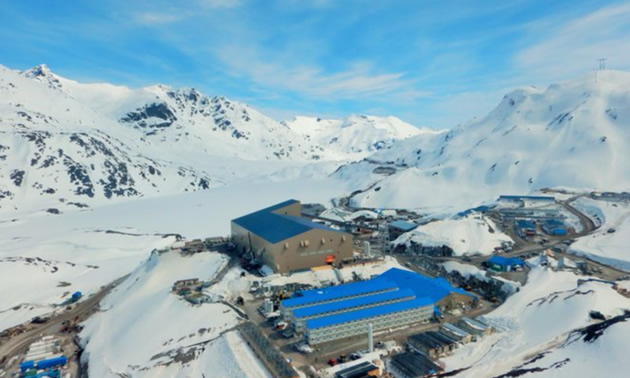 Aerial view of the Brucejack Mine in Northern British Columbia.