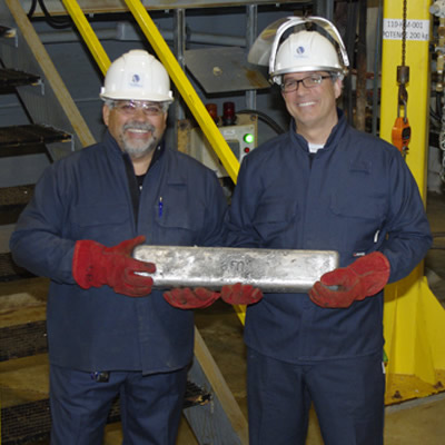 Alliance Magnesium is proud to announce the production of its first metal magnesium ingots at its Danville demonstration plant in Quebec.