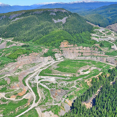 An areal photo of Alloycorp's Avanti Kitsault project, located 120 kilometres north of Terrace, B.C.