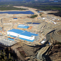 Overview of the 4 X 3 kilometer Mt. Milligan Mine site.