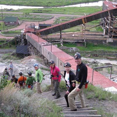 Atlas Coal Mine encompasses 70 acres and 20 dozen preserved buildings.