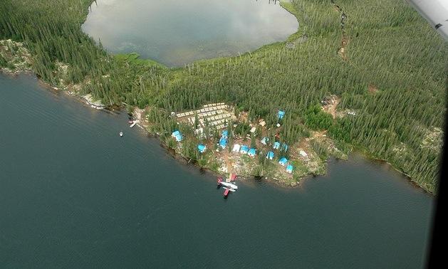 An aerial photo of Avalon Rare Metals.