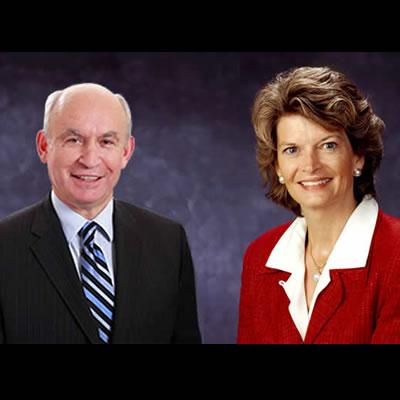 File photo of BC Mines Minister Bill Bennett and Alaskan Senator Lisa Murkowski