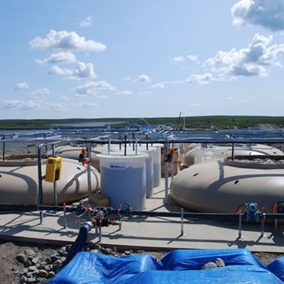 Picture of water treatment system.