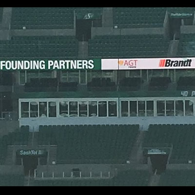 The Brandt Group of Companies and the Saskatchewan Roughriders Football Club are pleased to announce that Brandt has joined the team's roster of Founding Partner-level sponsors