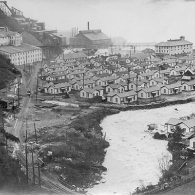 The settlement of Britannia Beach, one of two bases for the Britannia Mining and Smelting Company.