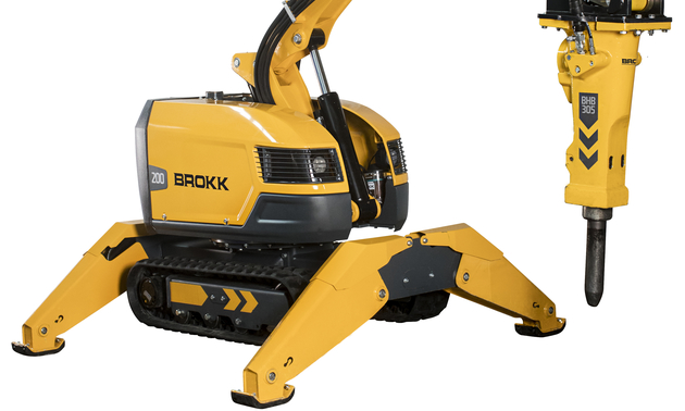 Shown is one of the new Brokk machines displayed against a white background.