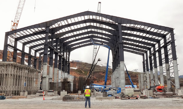 June 2016 Brucejack Mill Structure Complete