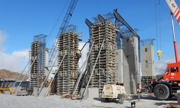 June 2016 Brucejack Mill Piers-Columns