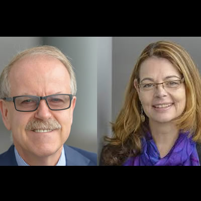 Jock Finlayson, left, and Denise Mullen, Business Council of B.C.