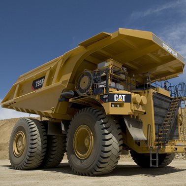 Photo of Caterpillar's 795F haul truck