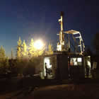 Drilling project in Northern Saskatchewan. The drilling company is Team Drilling based in Saskatoon.