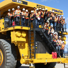 Photo of students on a big truck
