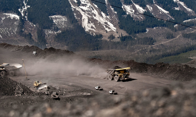 coal truck driving guests on a Teck mine tour in the Elk Valley