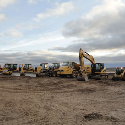 Heavy equipment at the Committee Bay Gold Project, located in Nunavut, Canada.