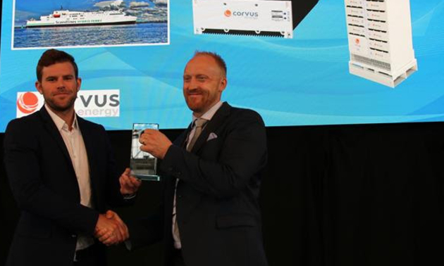 Corvus Energy wins both Supplier of the Year and Innovation of the Year at the 2017 Electric & Hybrid Marine World Expo Awards