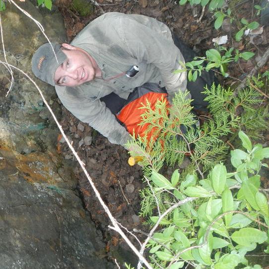 A prospector digs around at Cruz Cobalt's high-grade cobalt Johnson project.