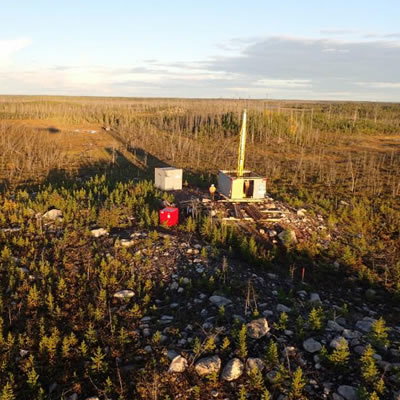 De Beers drill rig on site, West Athabasca project.