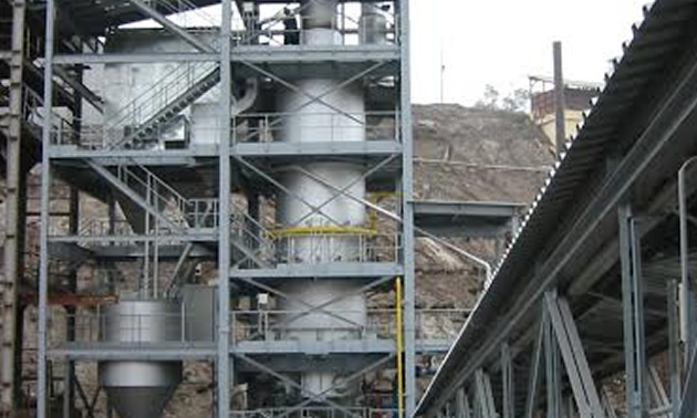 Picture of vertical shaft kiln at the Driftwood Project.