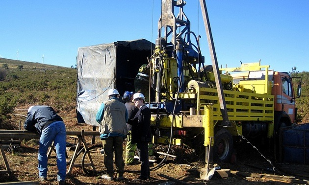 Drill Rig at the Deep Copper Target, Camp Creek-Oban Zone 2019.