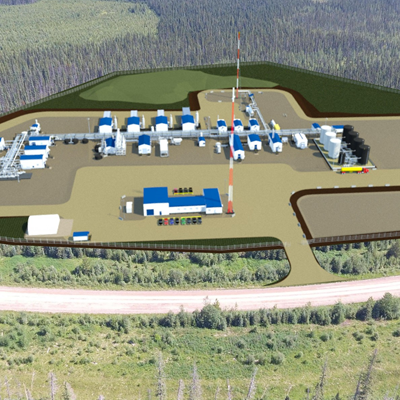 A schematic of CSV Midstream Solutions current Resthaven Gas Plant project.