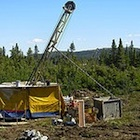 A drill rig in the Eaglehead east zone.