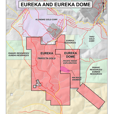 A map of the Eureka Project, located in the Yukon, Canada.