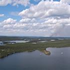 Aerial view of Waterbury Lake J Zone