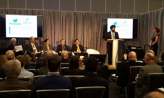 Navdeep Bains, Minister of Innovation, Science and Economic Development, provided introductory comments at last year's Globe Conference where ARCTIC sponsored a session highlighting some of its challenges.