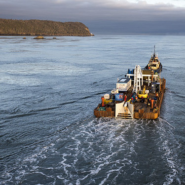 FORCE installs one of four subsea power cables in the Minas Passage.