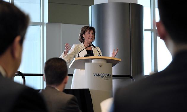 Premier Christy Clark announces funding for Geoscience BC.