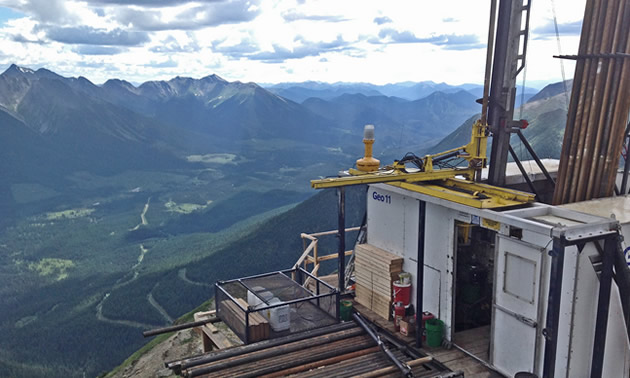 Geotech drill rig on a project in the Golden Triangle in northwest B.C.