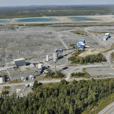 An aerial photo of the fully permitted Sigma Milling Facility and Tailings (looking North).