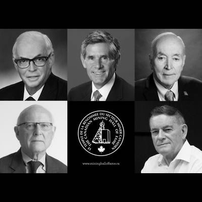 Collage of Canadian Mining Hall of Fame inductees.
