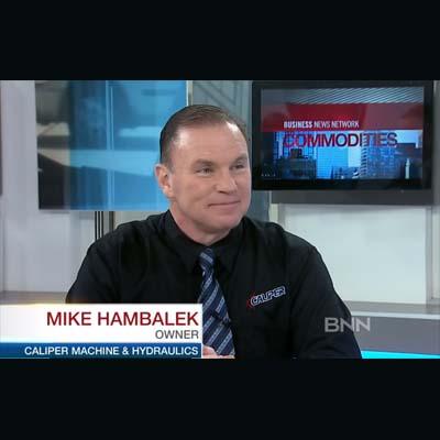 Mike Hambalek, owner of Caliper Machine and Hydraulics Ltd.