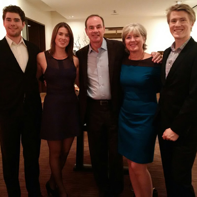 The Harquail Family: James, Sofia, David, Birgitta and Peter (CNW Group/Laurentian University)