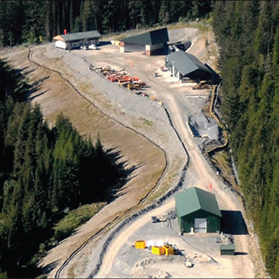 The portal facilities at the entrance of the Montanore Mine, in northwest Montana.