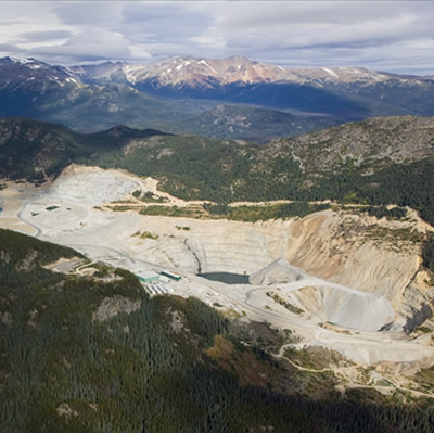 Aerial view of the Huckleberry Mine.