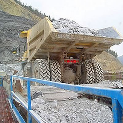 An industrial mining operation.