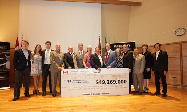 Largest single investment in Laurentian University's history (CNW Group/Laurentian University)