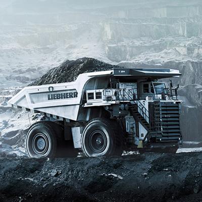 Liebherr mining truck.
